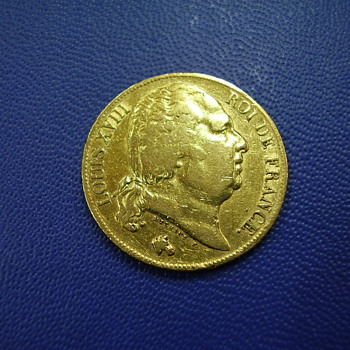 LOUIS XVIII Gold Coin - World Coins