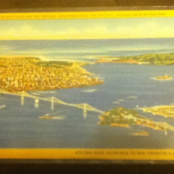 San Francisco Bay Bridge and Golden Gate Bridge Postcard - Postcards
