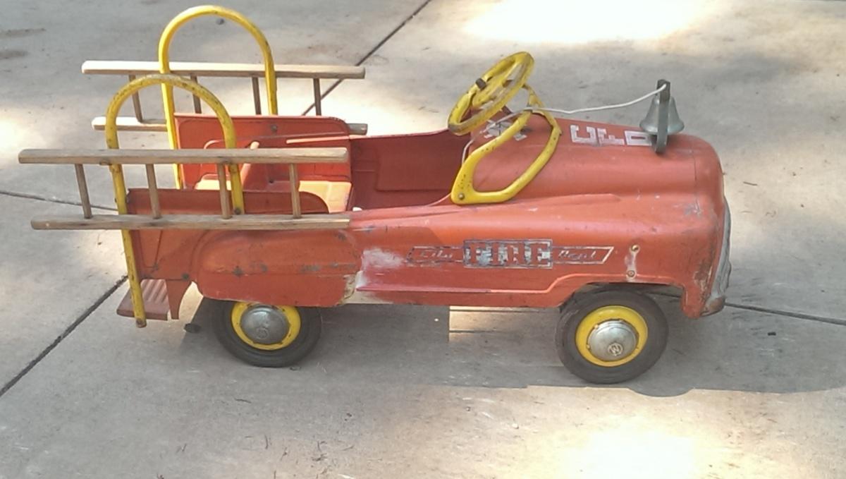 Fire Truck Pedal Car: 50s Fire Truck Pedal Car