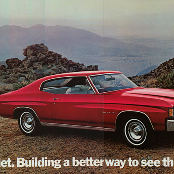 Original Sales brochure and poster and service manual, 1972 Chevelle
