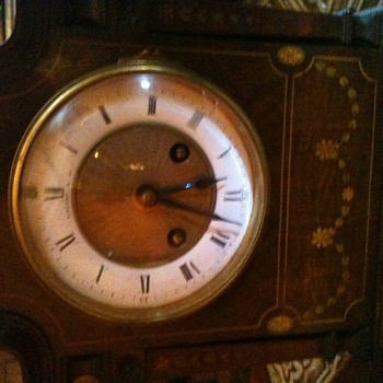 Tiffany Clock found in antique store. 1800's and keeps perfect time. Can't find one anywhere