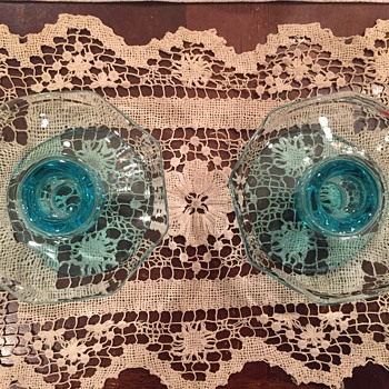 Depression Glass Candle Holders - Glassware
