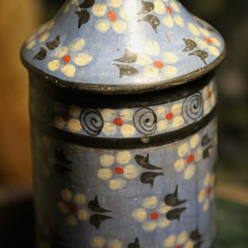 Tonala Covered Jar - unusual design and colors