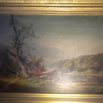 George F. Bensell (1837-1879)  Oil Painting