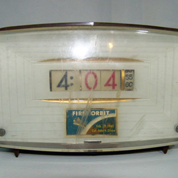 Pennwood Tymeter Commemorating John Glenn's First Orbit February 20 1962, July 1962, Model F70 - Mid Century Modern