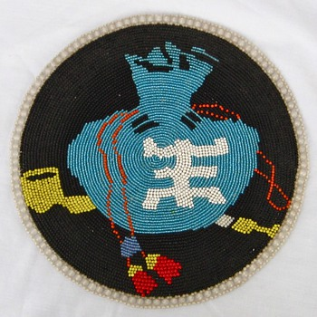 JAPANESE HAND BEADED NATIVE AMERICAN STYLE DECORATIVE ACCESSORY c
