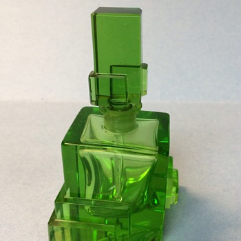Vintage green perfume- unmarked - Bottles