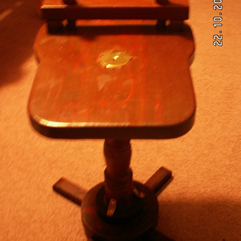 My Antique stool/woodworker table - Furniture