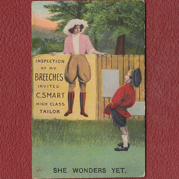 """VERY CLEVER """"FOOL THE EYE"""" POSTCARD, 19o9 UNSENT - Postcards"""