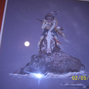 Original Indian Art Work by David Williams-Tosq'ue (listed) - Native American