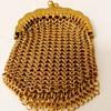 Antique 14kt Gold  Mesh Chatelaine Purse