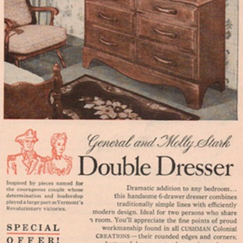 1950 Cushman Furniture Advertisement