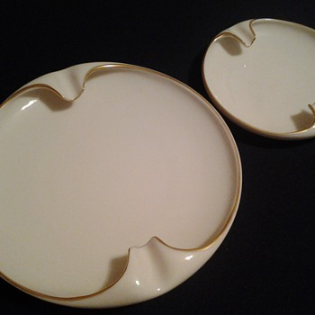 Set of Lenox ashtrays - Tobacciana