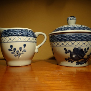 ROYAL COPENHAGEN -DENMARK -FAJANCE CREAMER &amp; SUGAR BOWL