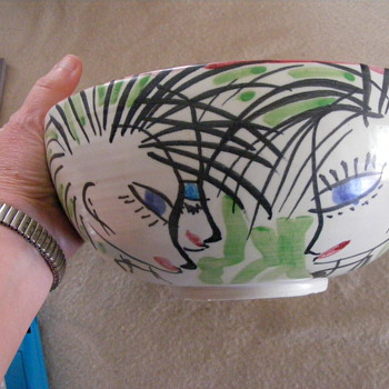 80's art bowl. - Art Pottery