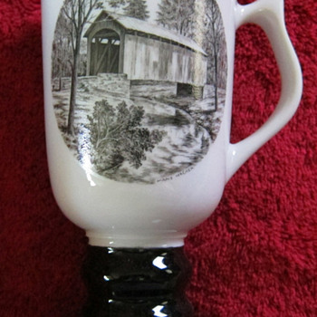 Hall China tri-state East Liverpool Ohio pottery festival 1988 mug - Art Pottery