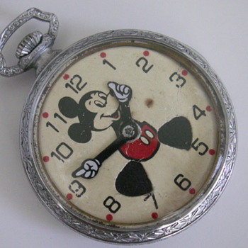 Unmarked Mickey Pocket Watch