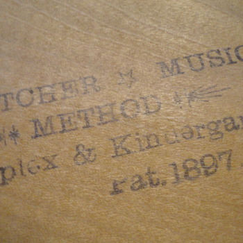 Fletcher Music Method (patent date 1897) - Music