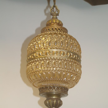Vintage Bubble Glass Hanging Light Lamp -Trying to Identify :)