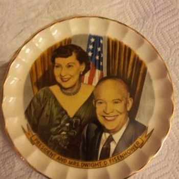 President and Mrs. Dwight D Eisenhower Plate - China and Dinnerware