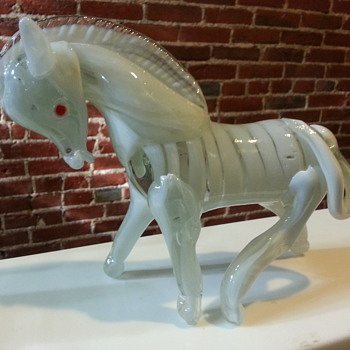 Amazing Heavy Blown Glass Horse Murano?  - Art Glass