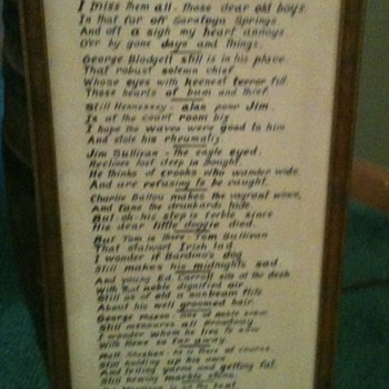 1910 Police Poem by Author James Rowe - Posters and Prints