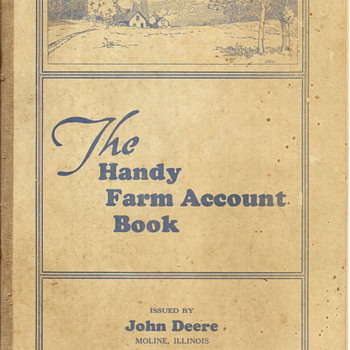 1940-41 Handy Farm Account Book by John Deere - Books
