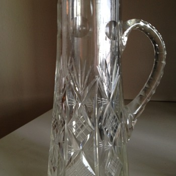 Small Cut Glass Pitcher - Glassware