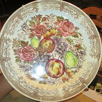 old large plater with cork center. - China and Dinnerware