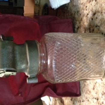 Chicago Thrift Co. Coin crank lid and jar--lid fits regular mouth jar. - Bottles