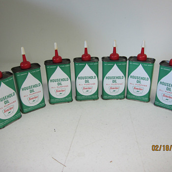 new old stock sinclair handy oil cans