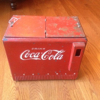 Coca cola salesman sample cooler 1939-1940