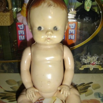 Celluloid Side looking baby doll - Dolls
