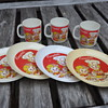 Vintage Kids Platsic Cup and Saucer set by Campbell, made in Italy