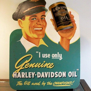 1940's Harley-Davidson Dealer Oil Display - Motorcycles