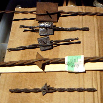 Antique Barbed Wire Etc........... - Tools and Hardware