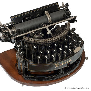 National typewriter - 1889