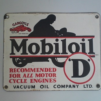 Four Gargoyle Mobiloil Signs! - Petroliana
