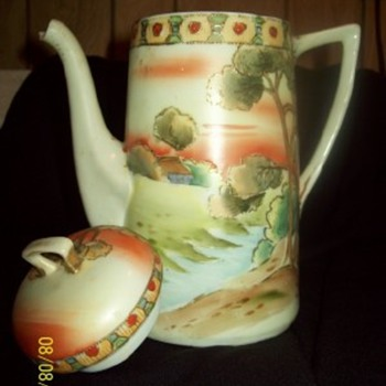 Hand,Painted,TeaPot
