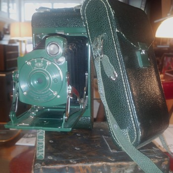 1929 No. 1 Folding Kodak Junior  - Art Deco
