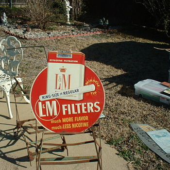 L&M Tin Sign - Advertising