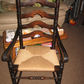Ladder Back Armchair with fiber rush seat - Furniture