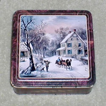 Currier & Ives Biscuit-Cookie Tin