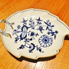 Post 1815 Meissen Blue Onion Leaf-Shaped Tray