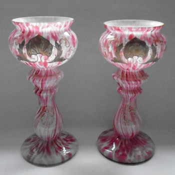 Welz Pedestal Vases - Art Glass