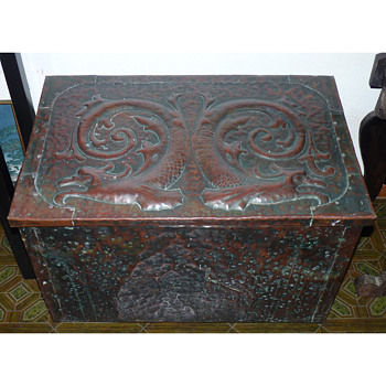Arts & Crafts Copper Chest, and a Charger, both attributed to John Pearson
