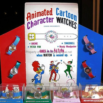 1969 Rouan Mohertus Character Watch Display Complete Set - Wristwatches