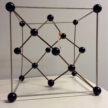 Mid Century Metaloglass, Inc. Sculptural Molecular Model of the Diamond - Mid-Century Modern
