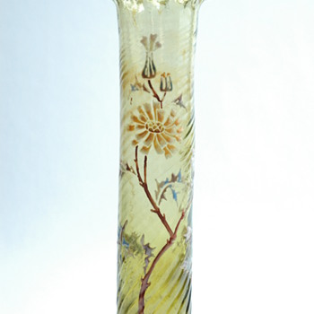 rare enamel bud vase probably by DESIRE CHRISTIAN - vallerysthal  circa 1890-1898