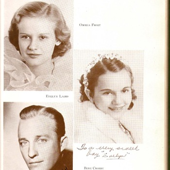 Bing Crosby signed yearbook